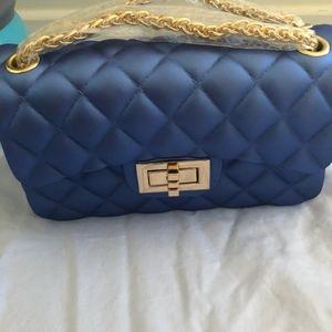Handbags - Blue leather bag